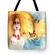 Fox Girl Tote Bag