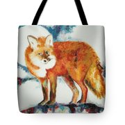 Fox In The Moon Tote Bag