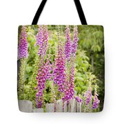 Foxglove Fence Tote Bag by Anne Gilbert