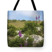 Foxgloves And Cows Tote Bag