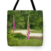 Foxgloves In New Forest Tote Bag