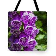 Foxgloves Textured Tote Bag
