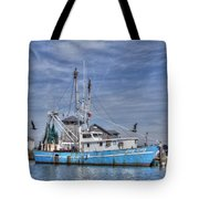Shrimp Boat At Port Tote Bag