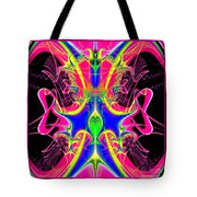 Fractal 15 Color Cacophony  Tote Bag