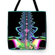Fractal 21 Jeweled Plume Tote Bag