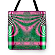 Fractal 34 Kimono In Pink And Green Tote Bag
