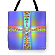 Fractal 7 Cross Tote Bag
