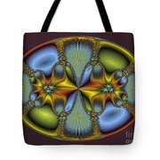 Fractal Art Egg Tote Bag