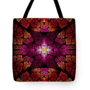 Fractal - Aztec - The All Seeing Eye Tote Bag