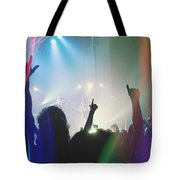 Fractal Beings 3-who Let The Show Go On Tote Bag