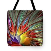Fractal Bird Of Paradise Redux Tote Bag