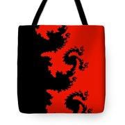 Fractal Black Dragons Tote Bag