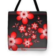 Fractal Cheerful Red Flowers Tote Bag