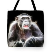 Fractal Chimp Tote Bag