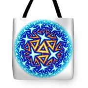 Fractal Escheresque Winter Mandala 10 Tote Bag