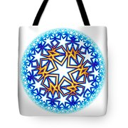 Fractal Escheresque Winter Mandala 2 Tote Bag