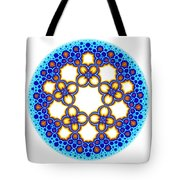 Fractal Escher Winter Mandala 3 Tote Bag