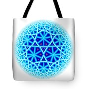 Fractal Escheresque Winter Mandala 4 Tote Bag