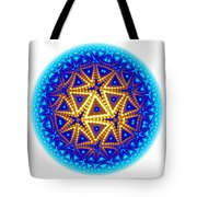 Fractal Escheresque Winter Mandala 6 Tote Bag