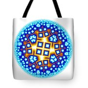 Fractal Escheresque Winter Mandala 9 Tote Bag