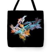 Fractal Flower Mobile Tote Bag