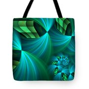 Fractal Gently Worn Tote Bag