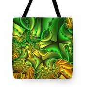 Fractal Gold And Green Together Tote Bag