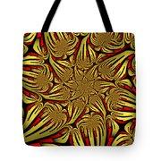 Fractal Golden And Red Tote Bag