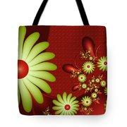 Fractal Happy Flowers 2 Tote Bag