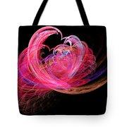 Fractal - Heart - Lets Be Friends Tote Bag