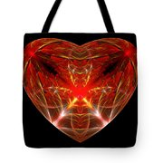 Fractal - Heart - Open Heart Tote Bag