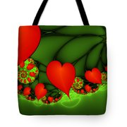 Fractal Hearts In The Discothec Tote Bag