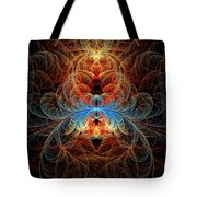 Fractal - Insect - Black Widow Tote Bag