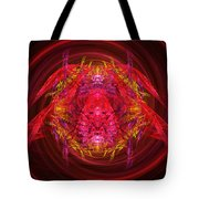 Fractal - Insect - Jeweled Scarab Tote Bag