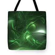 Fractal Living Green Metal Tote Bag