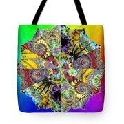 Fractal Lotus Zodiac Tote Bag