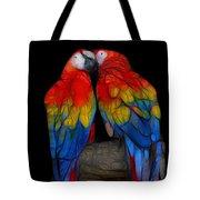 Fractal Parrots Tote Bag