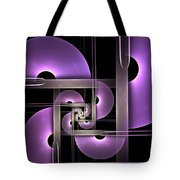 Fractal Purple Semicircles Tote Bag
