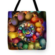 Fractal Textured Spiral Tote Bag