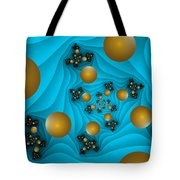 Fractal The Blue Depth Tote Bag