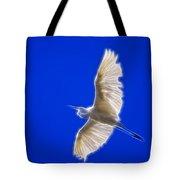 Fractal White Egret Tote Bag