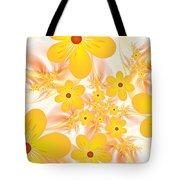 Fractal Yellow Flowers Tote Bag
