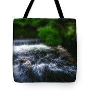 Fractalius - River Wye Waterfall - In Peak District - England Tote Bag
