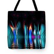 Fractopolis Skyline At Night Tote Bag