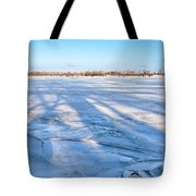 Fractured Ice On The River Tote Bag