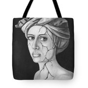 Fractured Identity Bw Tote Bag