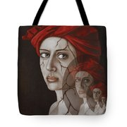 Fractured Identity Edit 8 Tote Bag