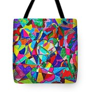 Fractured Kaleidoscope Tote Bag