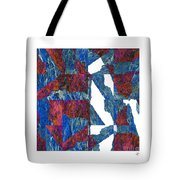 Fractured Overlay Iv Tote Bag