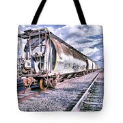 Graffiti Train Tote Bag